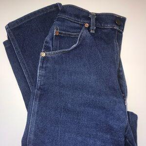 Denim - Vintage high waisted Lee dark wash jeans!